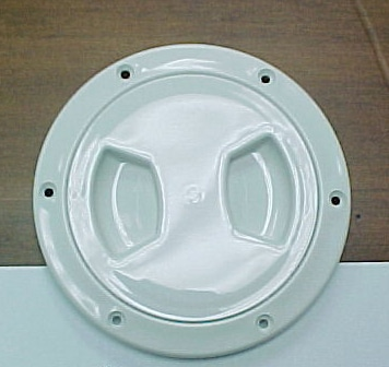 "Plate- Deck ""Screw Down Plate"" 5""-5/8"" White"