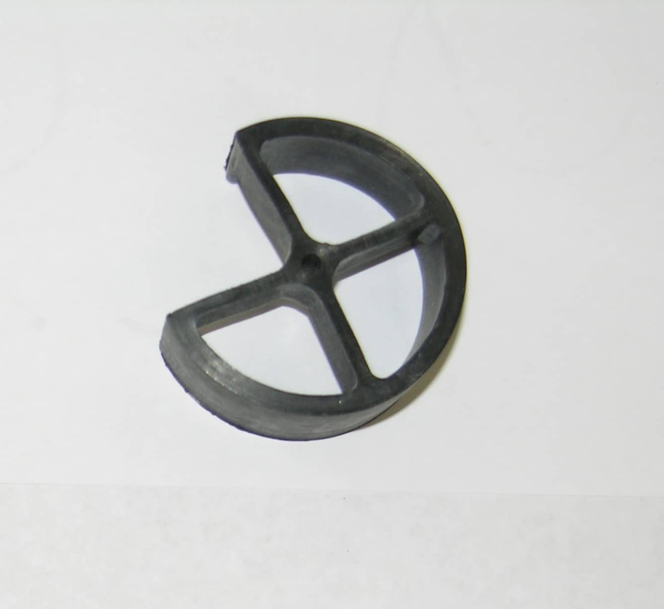 "Drain- Grate Rubber 1 1/2"" Dia (Semi-Circle) Rubber"