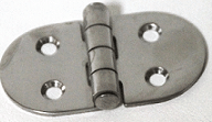 "3"" X 1.5"" Oval Hinge - Barrel Down"