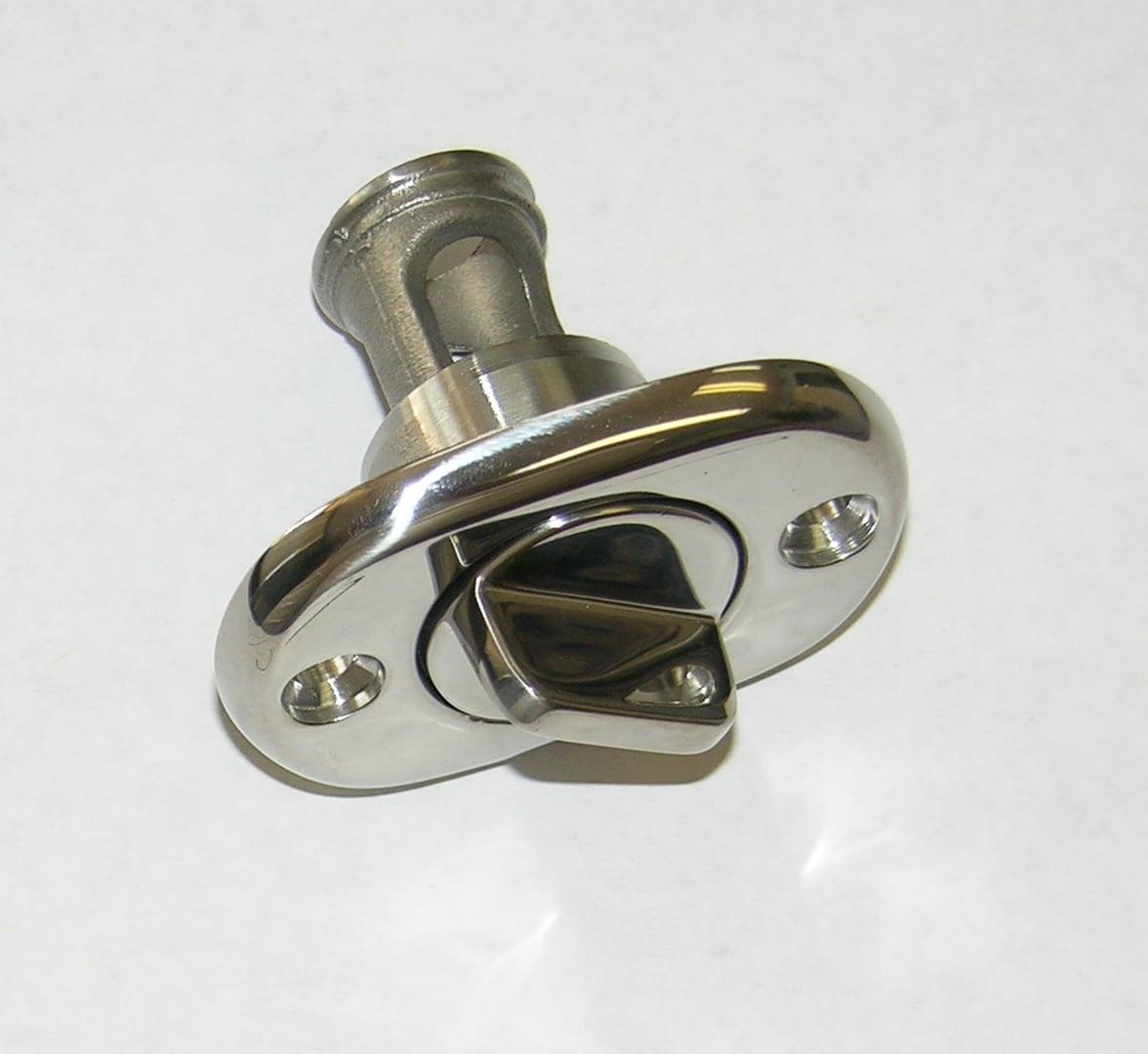 "Garboard Plug Drain S/S 2""X 1-1/2"" Oval"