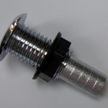 "Fitting- Thru Hull Chrome Plated Fitting 3/4"" Straight"
