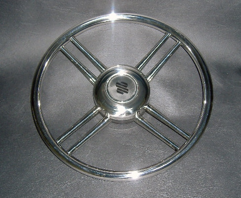 Steering Wheel Stainless Steel With 8 Spokes 13.8""